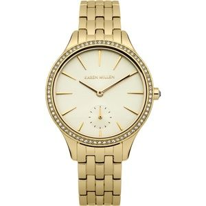 New Karen Millen Gold Diamond Link Watch